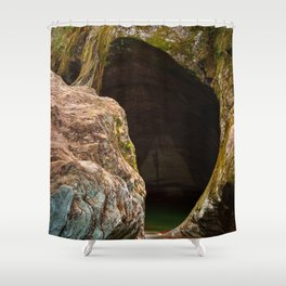 Gobble Rock Cave Shower Curtain
