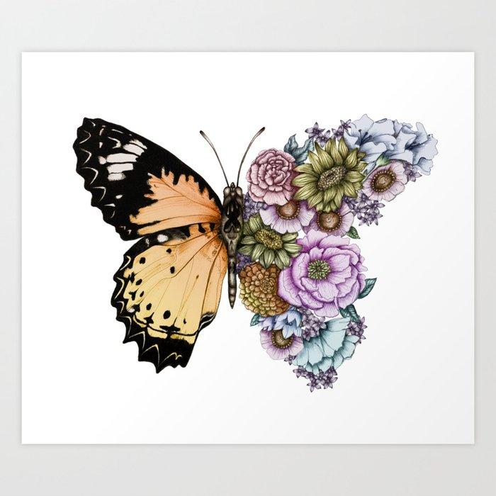 Butterfly in Bloom II Kunstdrucke