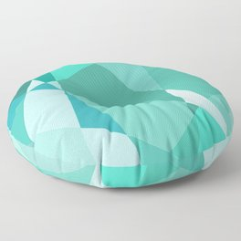 Minty Jagged Edges Floor Pillow