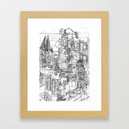 San Francisco! (B&W) Framed Art Print