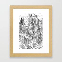 San Francisco! (B&W) Framed Art Print