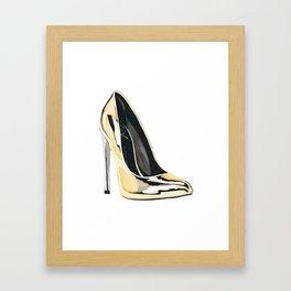 Gold Pump Framed Art Print