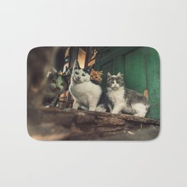 Family of Cats Bath Mat