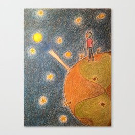fan art of the little prince book cover Canvas Print