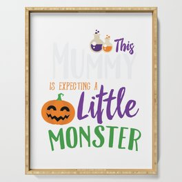 This Mummy is Expecting A Little Monster Halloween Serving Tray