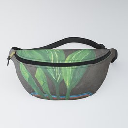 Cast Iron Plant - Acrylic Painting Fanny Pack