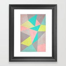 Geometric Pastel Framed Art Print