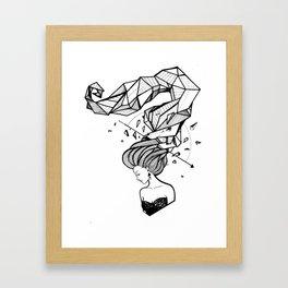 Geometrical Tresses Framed Art Print
