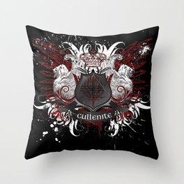 Cullenite Crest (on dark background) Throw Pillow