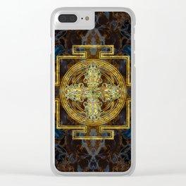 Double Dorje - Vishvavajra  -Vajra Clear iPhone Case
