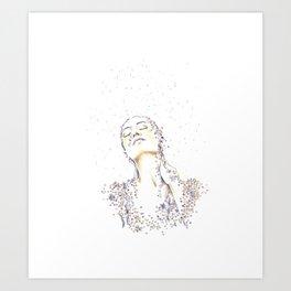 Rain of flowers Art Print