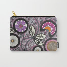 Lovely Flowers Pink Carry-All Pouch