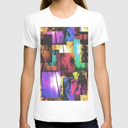 Tree Patterns with Sunset T-shirt