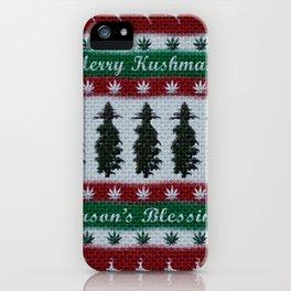 Merry Kushmas! iPhone Case