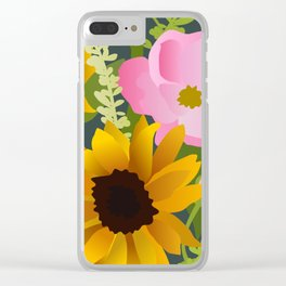 Sunflowers and Roses Clear iPhone Case
