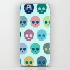 Colorful Skull Cute Pattern iPhone Skin