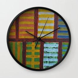 Crossing Lines Wall Clock