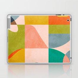 mid century abstract shapes spring I Laptop & iPad Skin