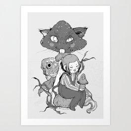 mush cat Art Print