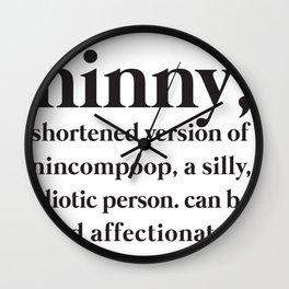 ninny Wall Clock