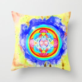 The seed of life - Inflammation Throw Pillow