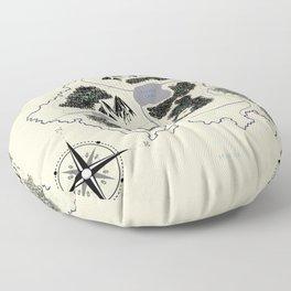 Phédour Map Floor Pillow