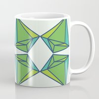 emerald Mugs featuring Emerald by Tess Ellis