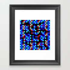 pixel labyrinth Framed Art Print