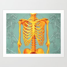 Skeleton II Art Print