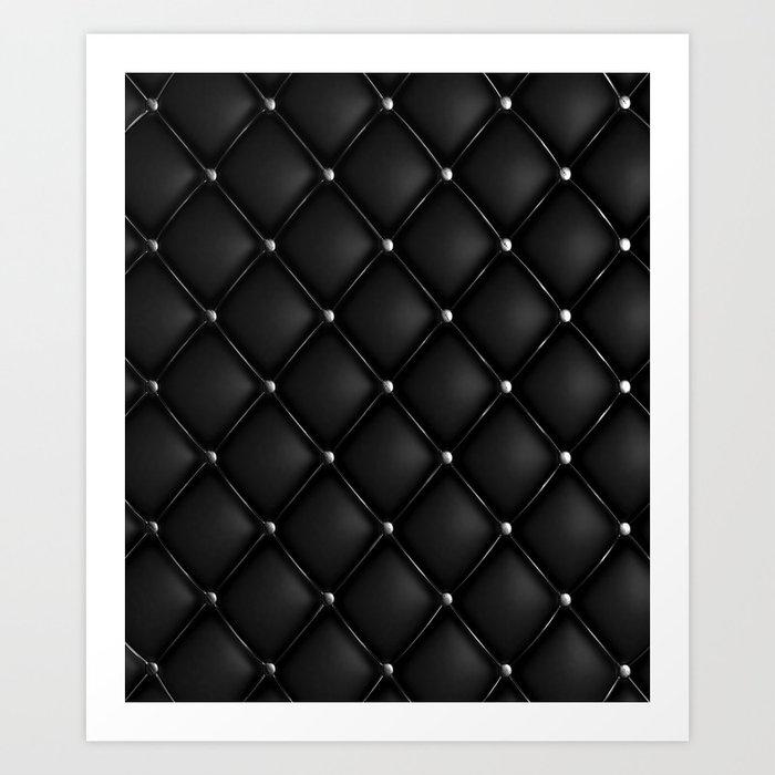 Black Quilted Leather Kunstdrucke