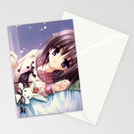 Kawaii Girl in Bed Stationery Cards