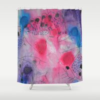 hands Shower Curtains featuring Hands by NikkiMaths