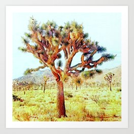 Joshua Tree VG Hills by CREYES Art Print