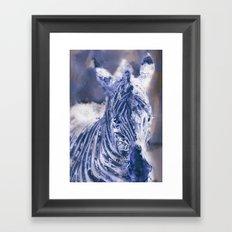 Zebra Oil Framed Art Print