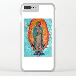 Virgen de Guadalupe por Diego Manuel Clear iPhone Case