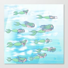 Mermaid migration Canvas Print