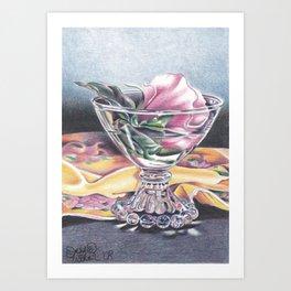Rose Bowl Art Print