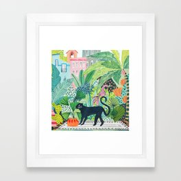 Jungle Panther Gerahmter Kunstdruck