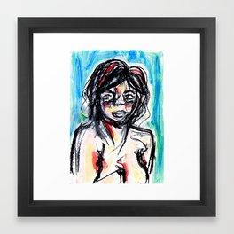 Watercolor Woman Framed Art Print