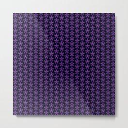 Purple Asterisk flower pattern Metal Print