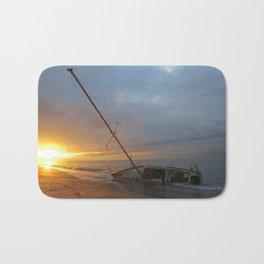 """Sail Boat """"STRANDED SUNRISE""""  Bath Mat"""