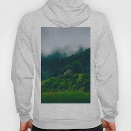 Moist Rainy Forest Pine Trees  Green Hills Hoody