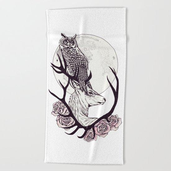 Deer Spirit Beach Towel