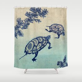 TWO TURTLES Shower Curtain