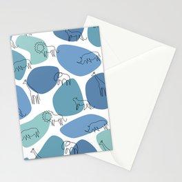 Big 5 Safari Minimalistic Line Art Stationery Cards