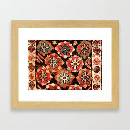 Kurdish West Persian Bag Print Framed Art Print