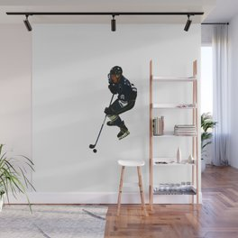 Taking Control- Ice Hockey Player & Puck Wall Mural