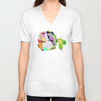katamari V-neck T-shirts featuring Little Katamari by CatOverlord