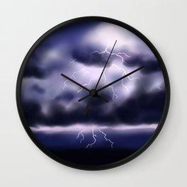 Stormy Nightskies Wall Clock
