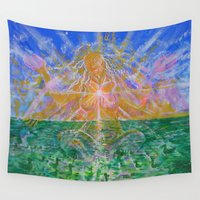 goddess Wall Tapestries featuring Goddess by InSight Out